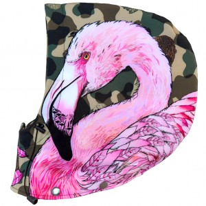 Kaptur snowboardowy Camo Animals FLAMINGO