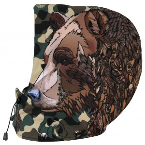 Kaptur snowboardowy Camo Animals BEAR
