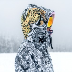 Damska kurtka snowboardowa JUNGLE ADVENTURE CHEETAH