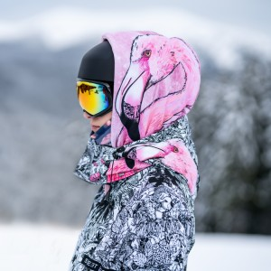 Damska kurtka snowboardowa JUNGLE ADVENTURE  FLAMINGO