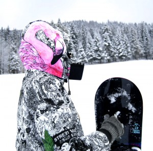 Męska kurtka snowboardowa JUNGLE ADVENTURE FLAMINGO