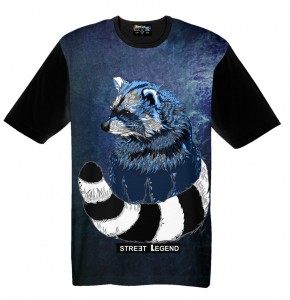 Raccoon t-shirt damski