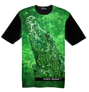 Crocodile t-shirt damski