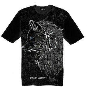 BLACK WOLF t-shirt damski