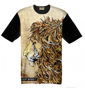 LION t-shirt damski