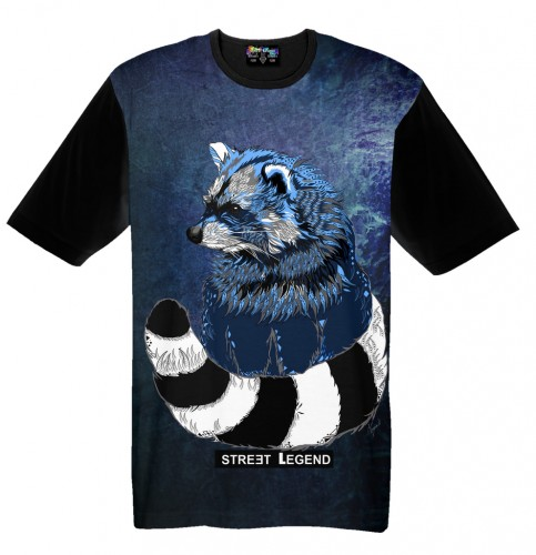Racoon-t-shirt-Street-Legend-Summer-Legend