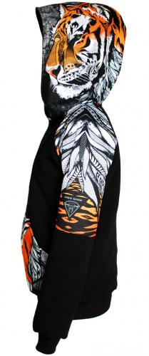 tiger hoodie street legend 100% cotton