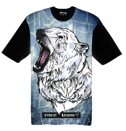 Polar bear t-shirt Street Legend