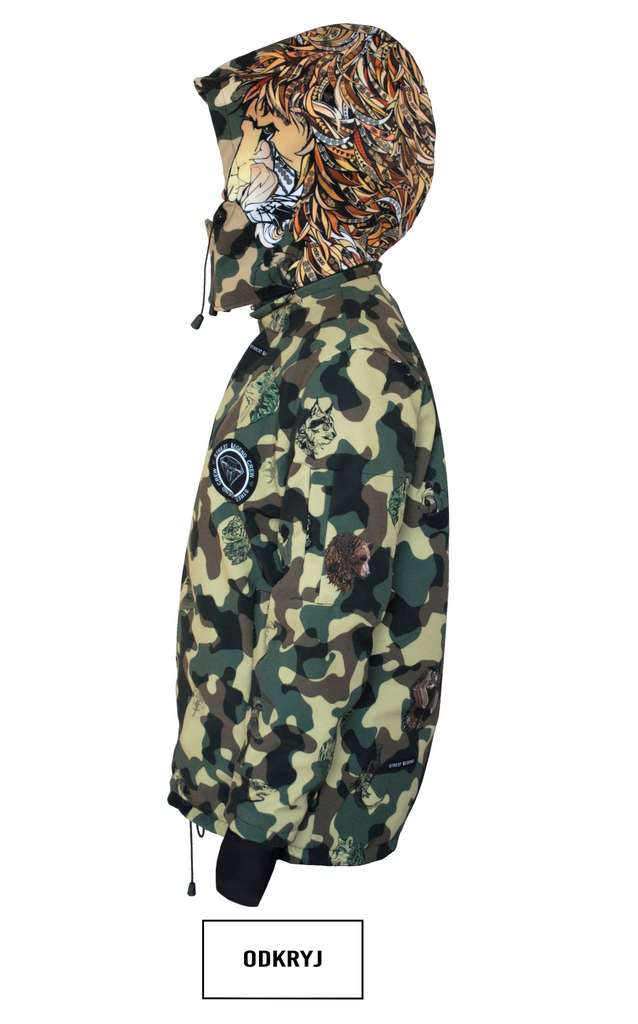 kurtka Snowboardowa Camo Animals Lion