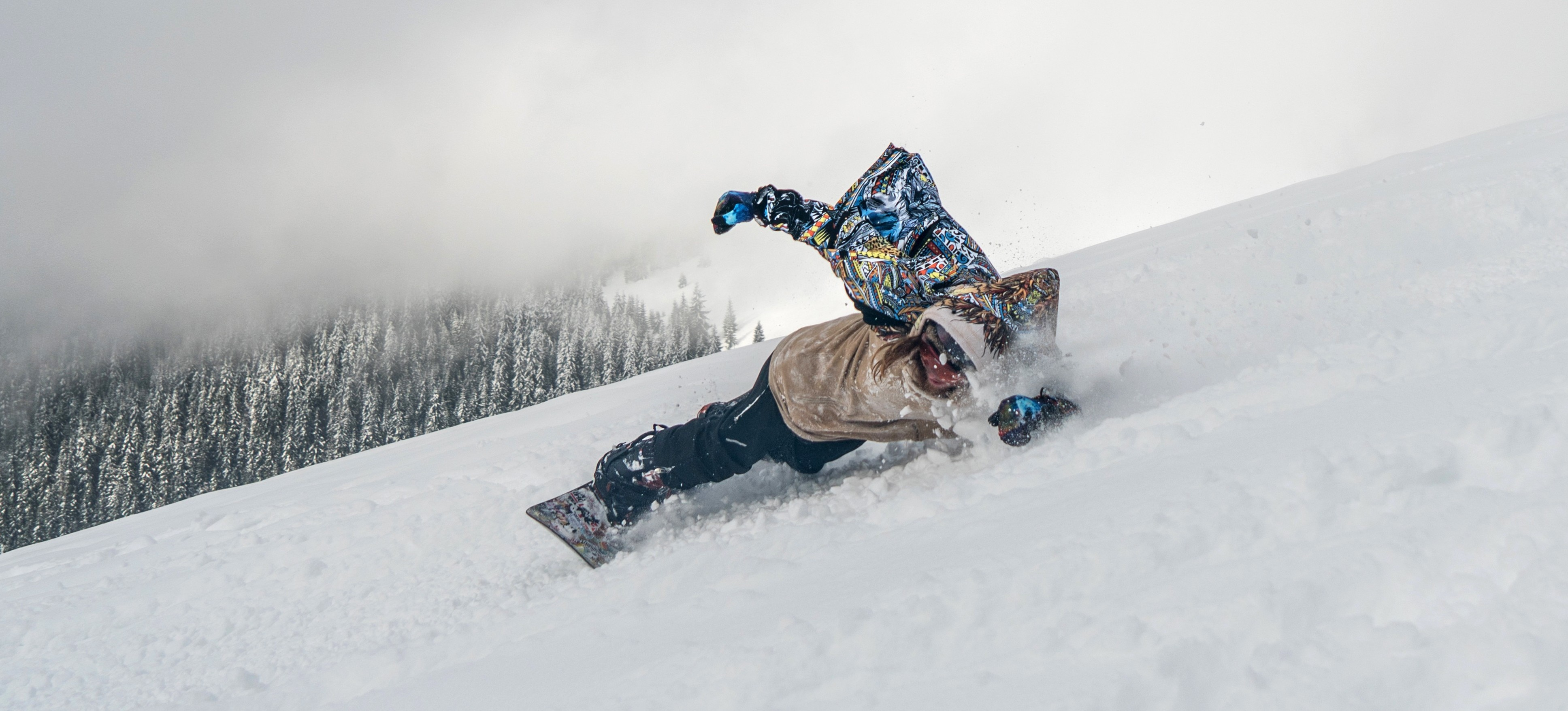 Snowboard action- Snow- Legend
